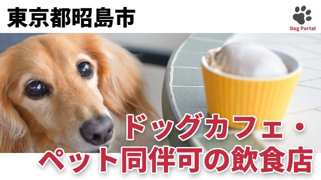 東京都昭島市のドッグカフェ
