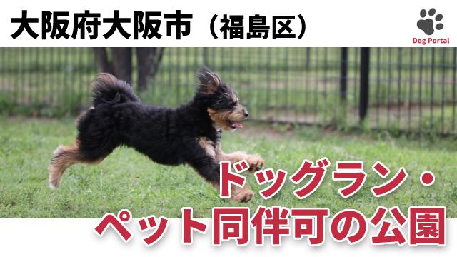 大阪市福島区のドッグラン・公園